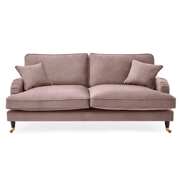 Rupert 3 Seater Velvet Sofa Blush (Pink)
