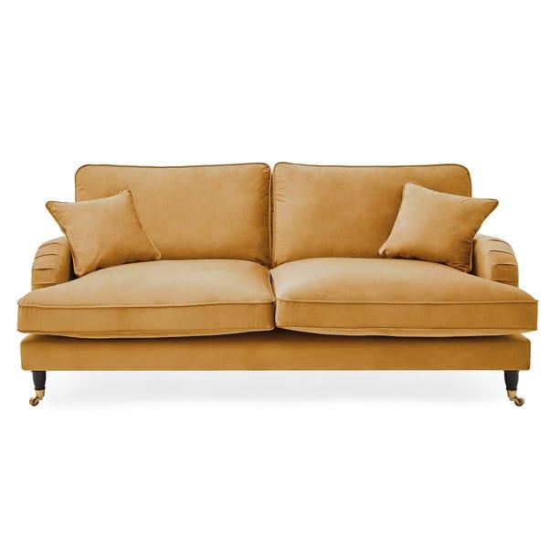 Rupert 3 Seater Velvet Sofa Ochre Rupert