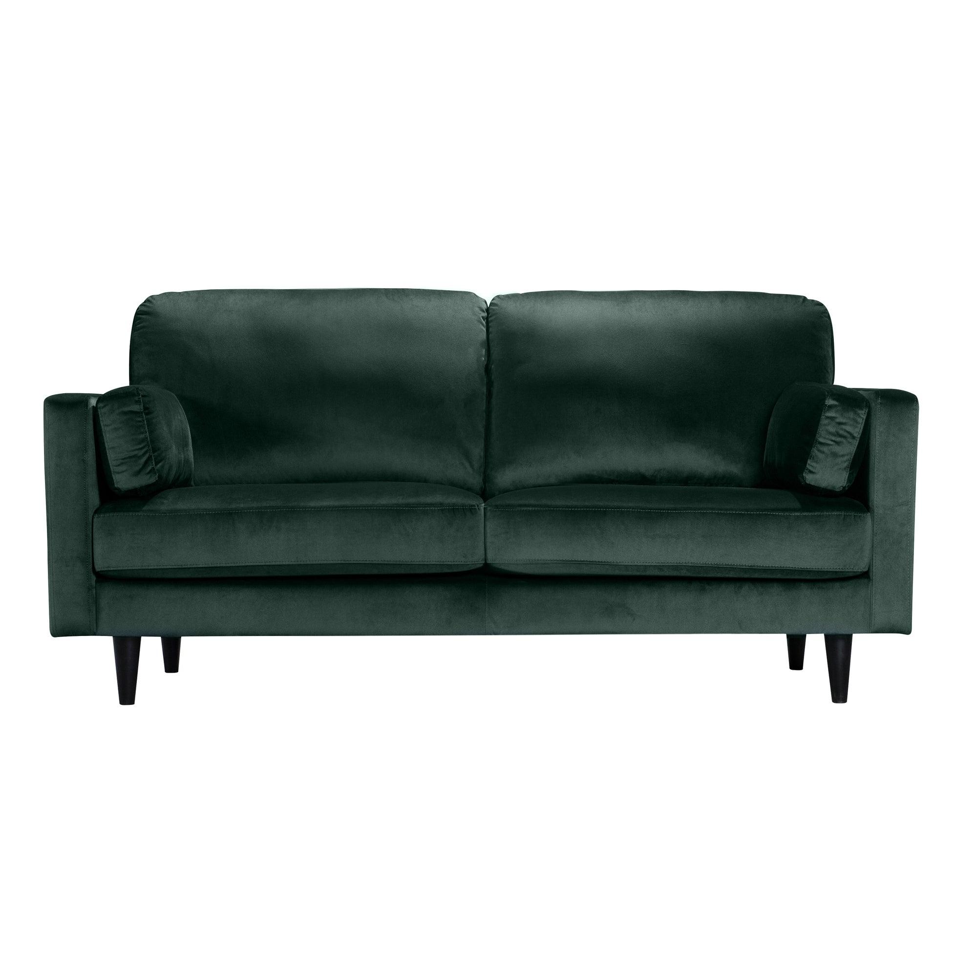 Dunelm Sheldon Velvet 2 Seater Sofa Bottle (Green) |