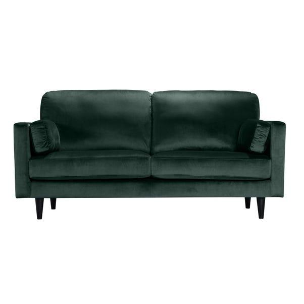 Sheldon Velvet 2 Seater Sofa Bottle (Green)