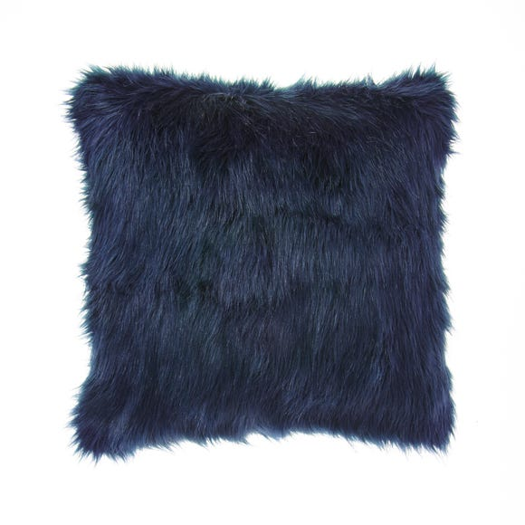 Fluffy Faux Fur Cushion Cover Navy undefined