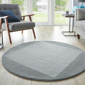 Boston Wool Border Circle Rug