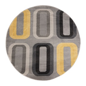 Elements Dahl Ochre Circle Rug