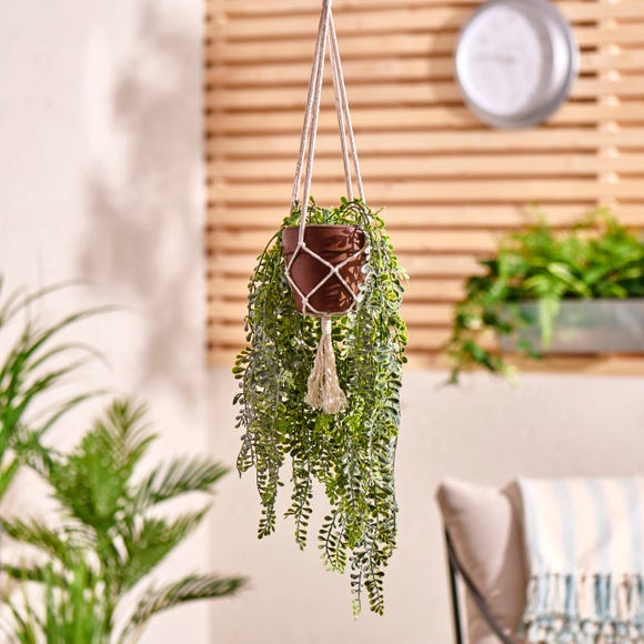 Elements Artificial Green Hanging Plant in Pot Green