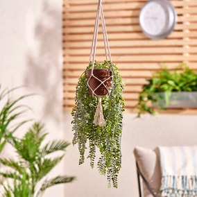 Elements Artificial Green Hanging Plant in Pot