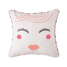 Elements Lady Face Embroidered Cushion