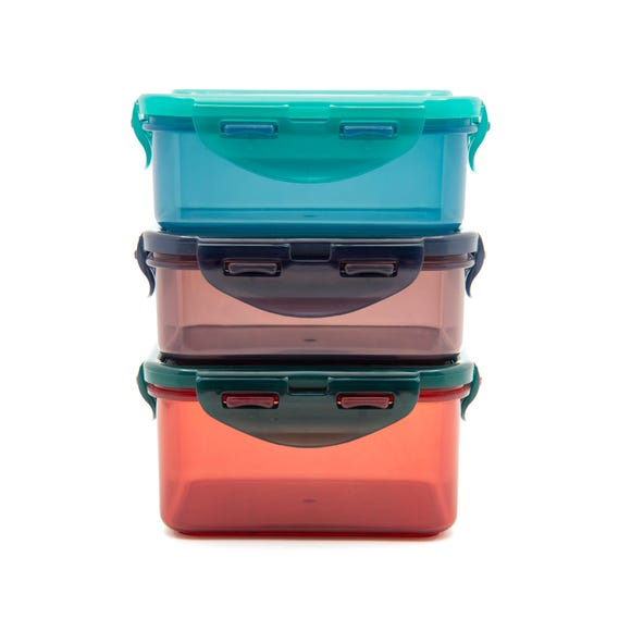 Lock & Lock Pack of 3 Eco Food Storage Containers MultiColoured