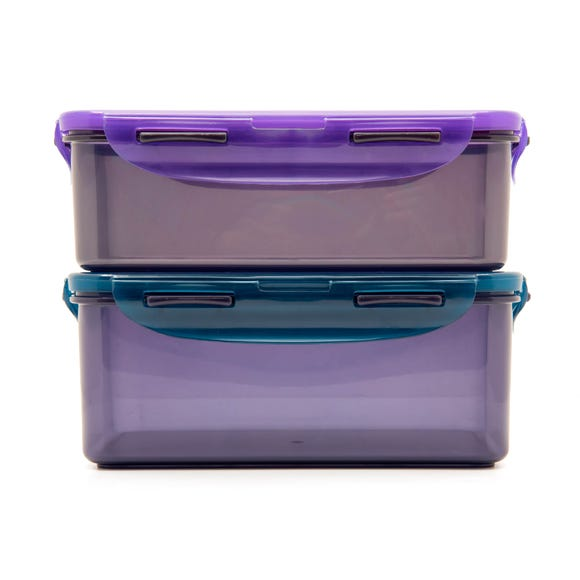 Lock & Lock Pack of 2 Eco Food Storage Containers MultiColoured