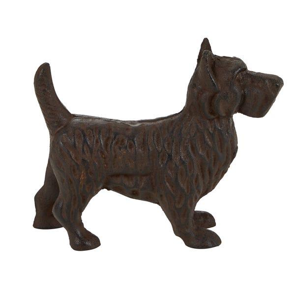 Cast Iron Westie Dog Ornament Brown