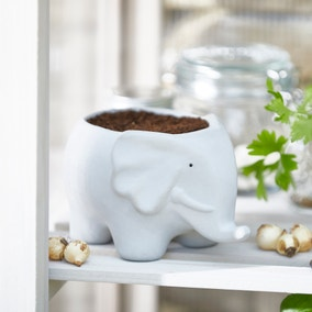 Grey Elephant Planter