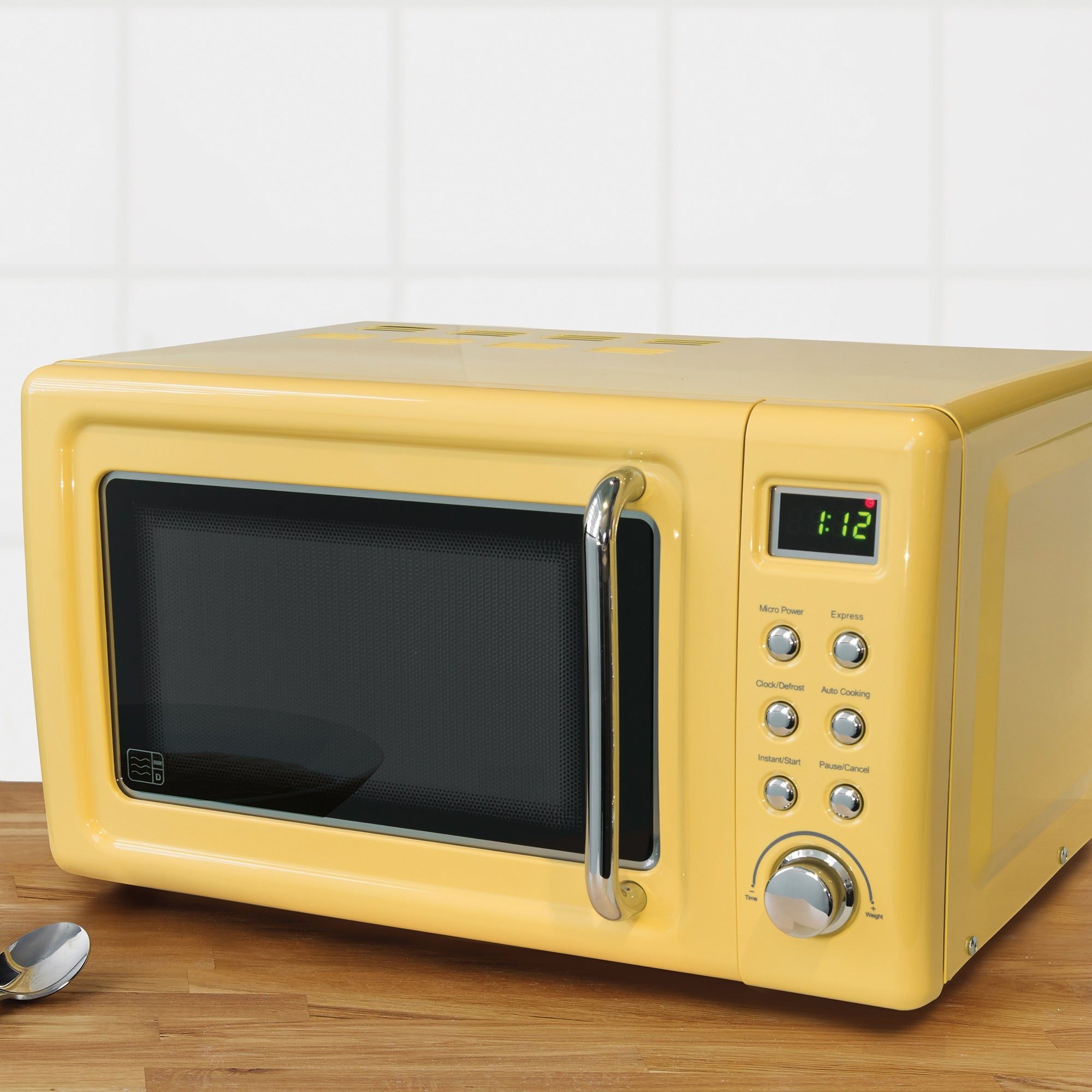 Click to view product details and reviews for Retro 20l 800w Microwave Yellow Yellow.