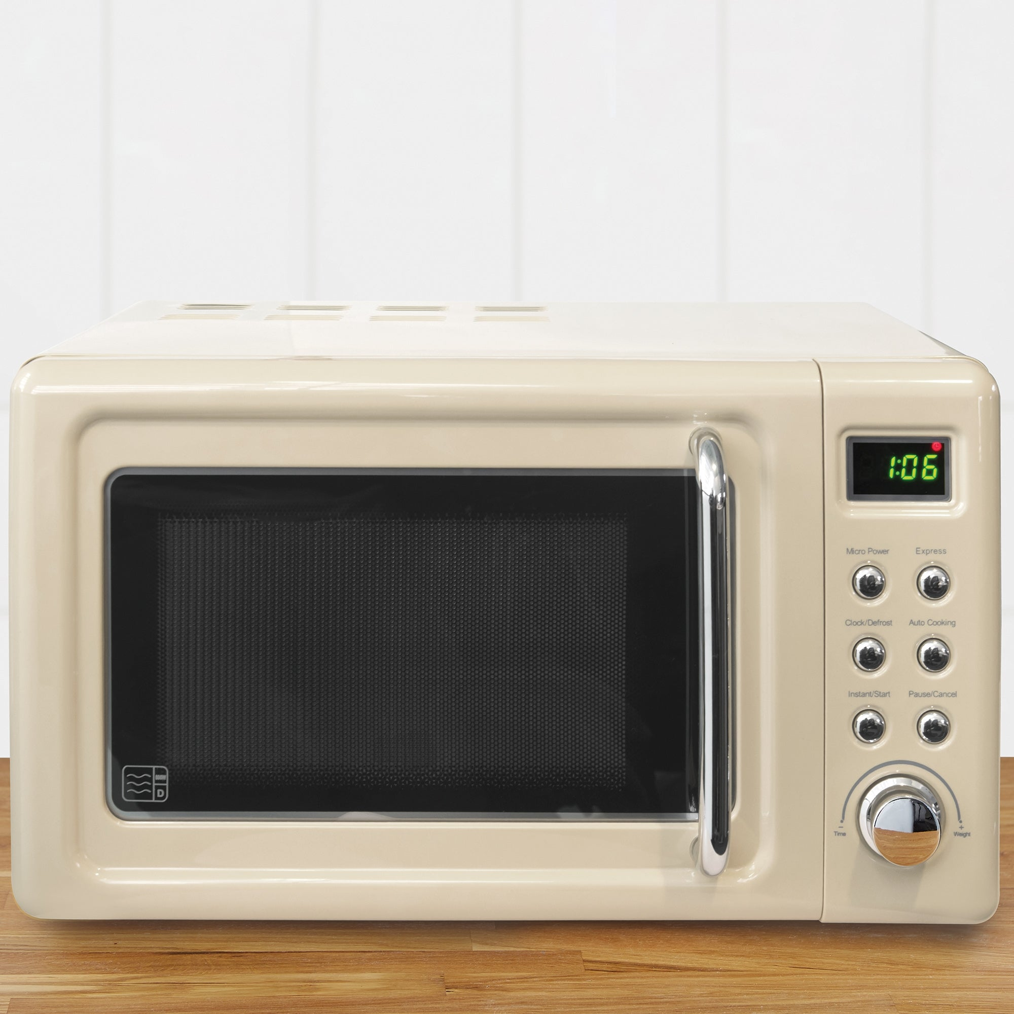 Retro 20l 800w Microwave Cream Cream