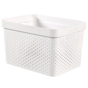 Curver Infinity Recycled Plastic 17L Storage Basket