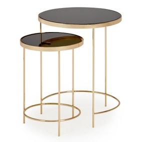 Ritz Black Nest of Tables