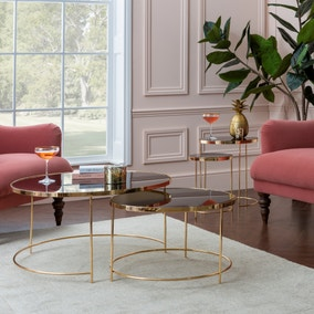 Ritz Black Set of 2 Coffee Tables