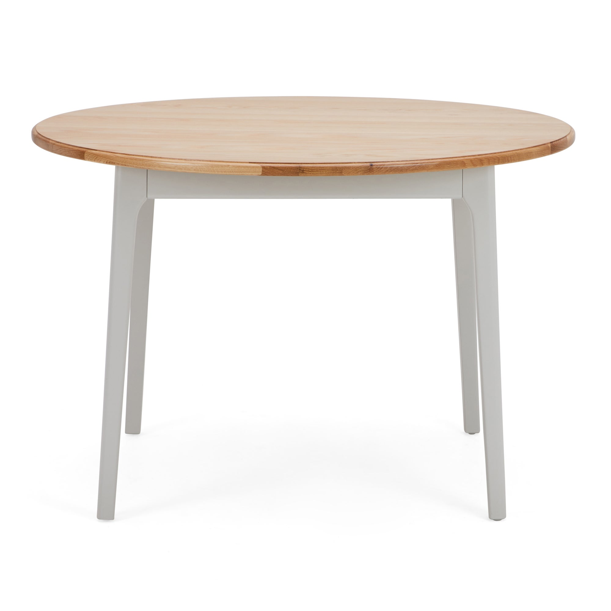Freya Round Dining Table Grey and Brown