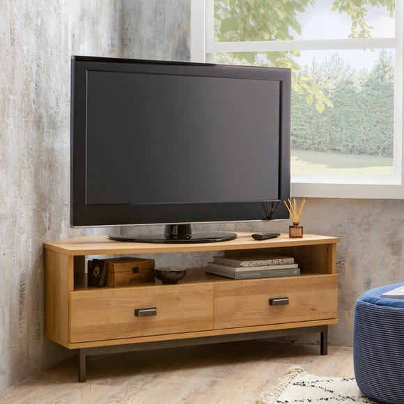Fulton Oak Effect Corner TV Stand