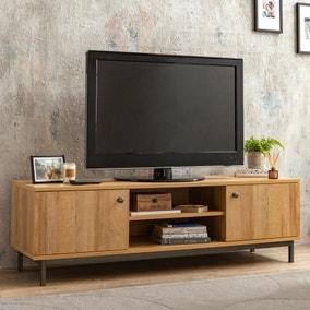 Fulton Oak Effect Wide TV Stand