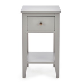 Lynton Compact Grey Slim Bedside Table