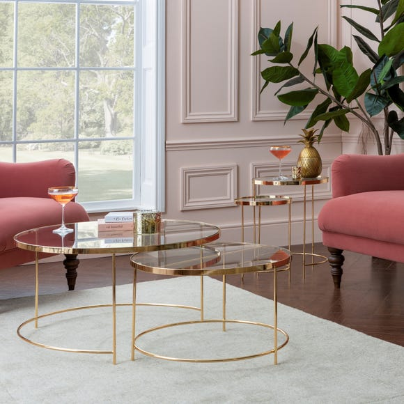 Ritz Glass Set of 2 Coffee Tables