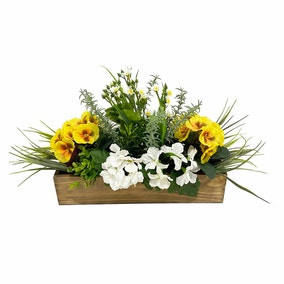 Artificial Flower Potted Window Topiary
