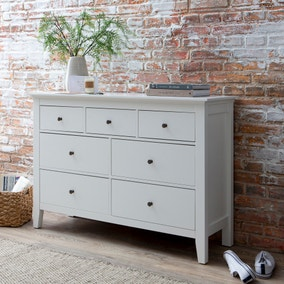 Lynton White 7 Drawer Chest