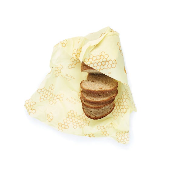Single Bees Wax Bread Wrap Yellow