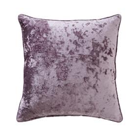 Large Crushed Velour Mauve Cushion