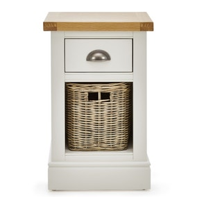 Compton Ivory Bedside Table with Baskets