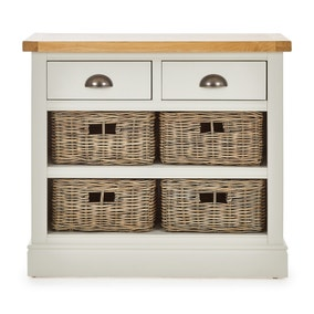 Compton Ivory Console Table with Baskets