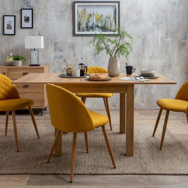 Fulton Oak Effect Flip Top Dining Table