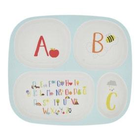 Kids Alphabet Divider Plate