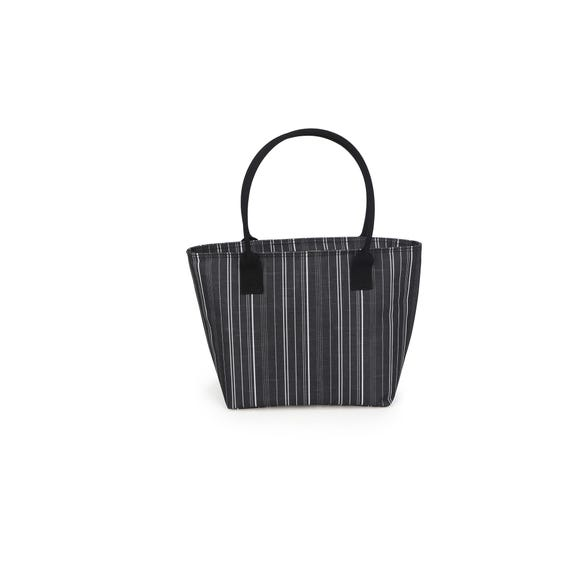 Monochrome Lunch Tote Bag Black and white