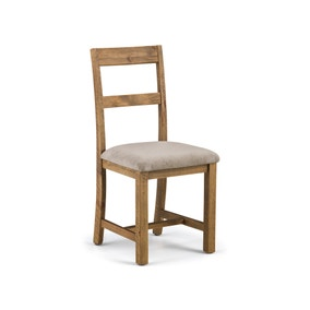Aspen Set of 2 Dining Chairs Mink Chenille