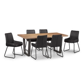 Brooklyn Oak Dining Table with 6 Soho Chairs