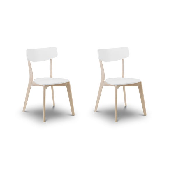 Casa Set of 2 Dining Chairs White White