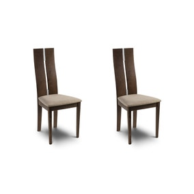 Cayman Set of 2 Dining Chairs Walnut
