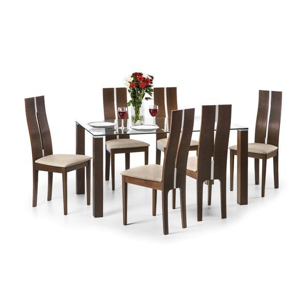 Cayman 4 Seater Dining Set Walnut