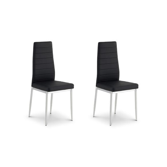 Greenwich Set of 2 Dining Chairs Black PU Leather Black