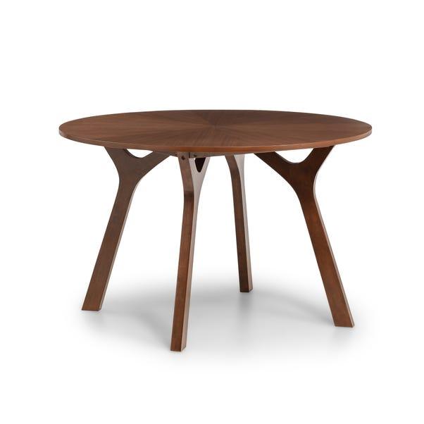 Huxley Walnut Round Table Walnut (Brown)
