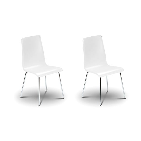 Mandy Set of 2 Dining Chairs White White