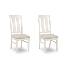 Pembroke Set of 2 Dining Chairs White