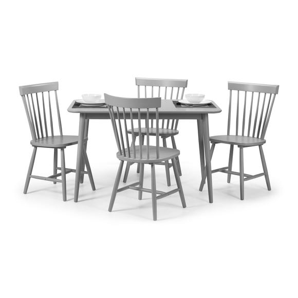 Torino Table & 4 Chairs Grey