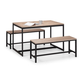 Tribeca Dining Table & 2 Benches