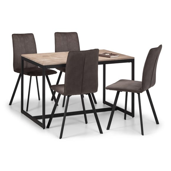 Tribeca Dining Table & 4 Monroe Chairs Black