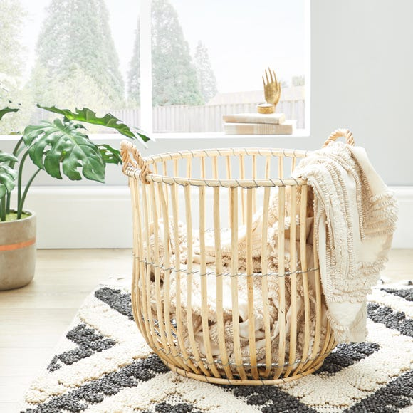 Wicker Natural Storage Basket Natural