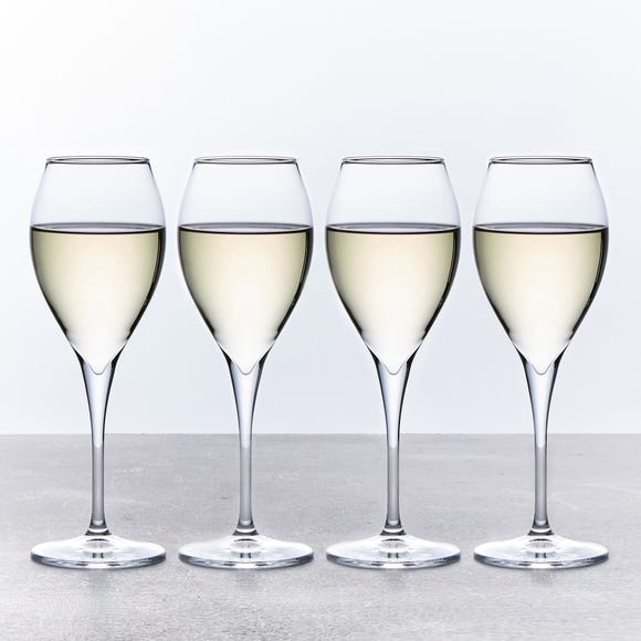 White Wine Glasses Set of 4 325ml Clear