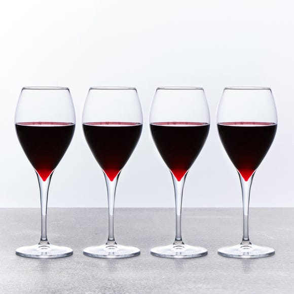 Red Wine Glasses Set of 4 445ml Clear