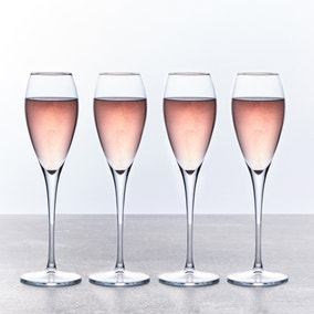 Set of 4 225ml Champagne Flutes