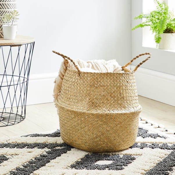 Natural Belly Storage Basket Natural